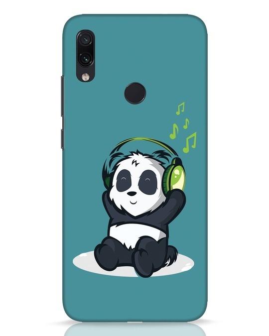 Shop Music Panda Xiaomi Redmi Note 7 Pro Mobile Cover-Front