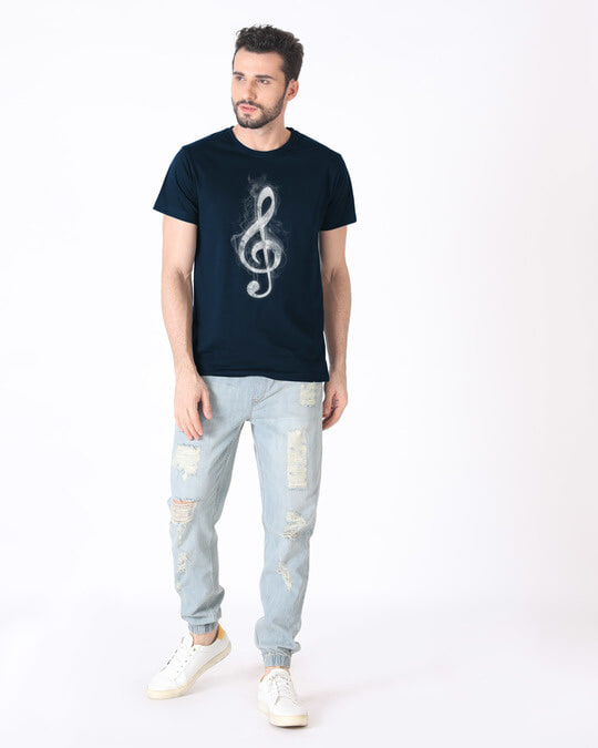 Shop Music Smoke Half Sleeve T-Shirt