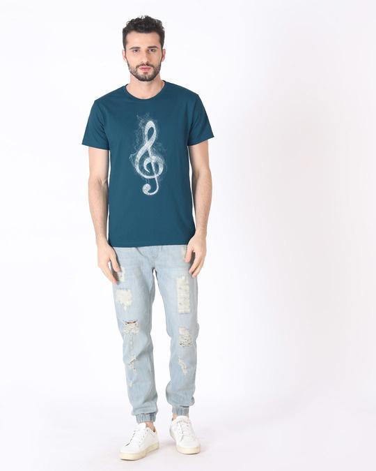 Shop Music Smoke Half Sleeve T-Shirt