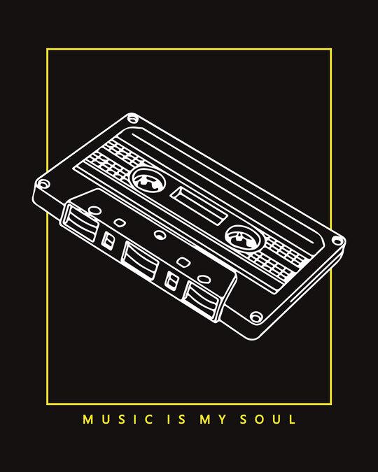 Shop Music Soul Round Neck 3/4 Sleeve T-Shirt-Full