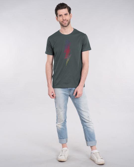 Shop Music Thunder Bolt Half Sleeve T-Shirt-Design