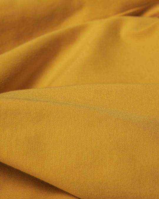 Shop Mustard Yellow Boat Neck 3/4th Sleeve T-Shirt Dress