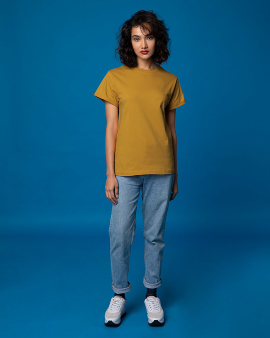 Shop Mustard Yellow Boyfriend T-Shirt