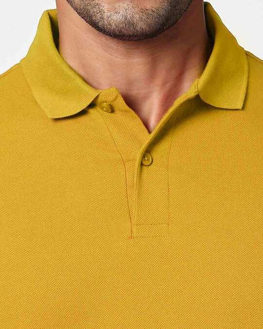Shop Mustard Yellow Classic Polo