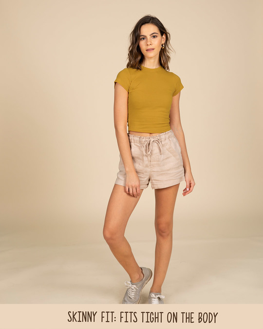 Shop Mustard Yellow Crop Top