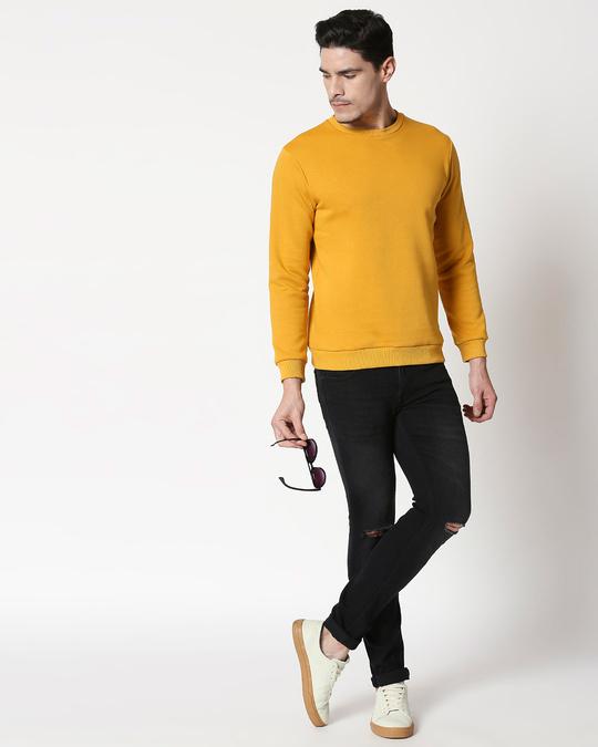 Shop Mustard Yellow Fleece Sweater