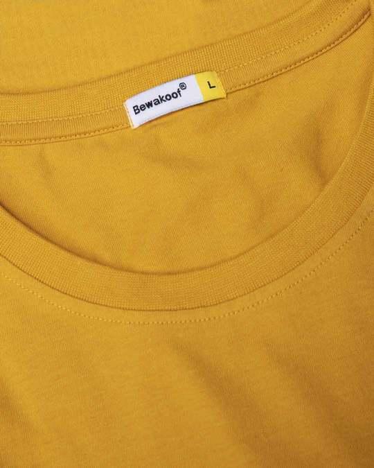 Shop Mustard Yellow Full Sleeve T-Shirt