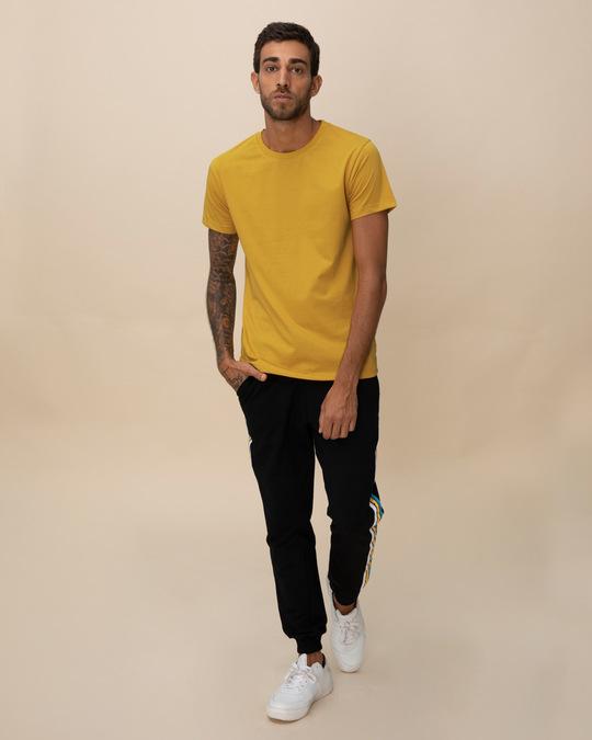 Shop Mustard Yellow Half Sleeve T-Shirt-Full