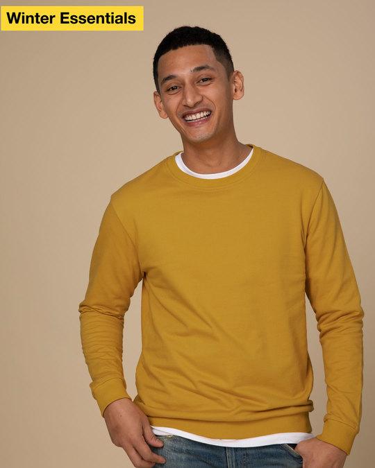 Shop Mustard Yellow Sweatshirt-Front