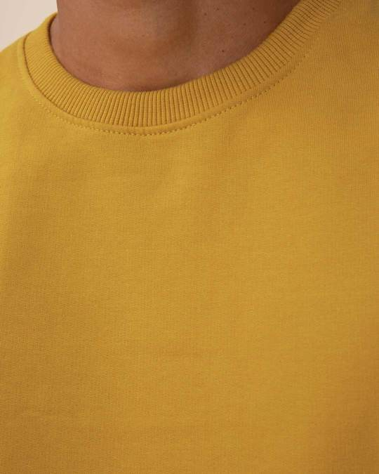Shop Mustard Yellow Fleece Sweater