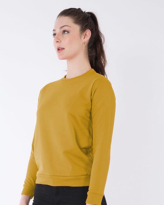 Shop Mustard Yellow Fleece Sweater-Back