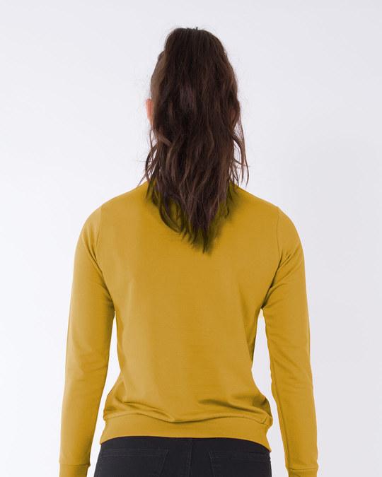 Shop Mustard Yellow Fleece Sweater-Design