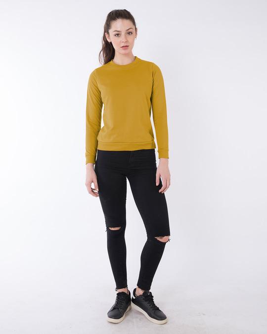 Shop Mustard Yellow Fleece Sweater-Full