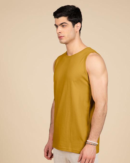 Shop Mustard Yellow Vest-Back