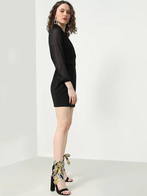 Shop A Line Black Dress-Full