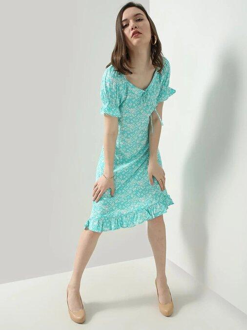 Shop A Line Multicolor Dress-Front