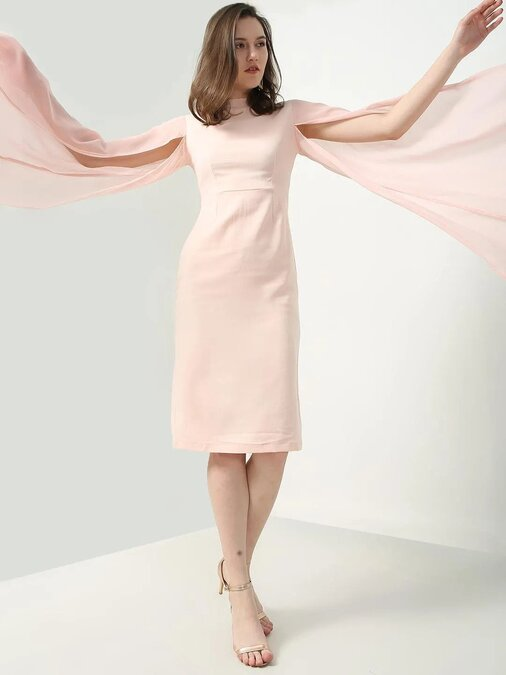 Shop Bodycon Pink Dress-Front