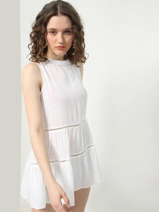 Shop Women A Line White Dress-Design