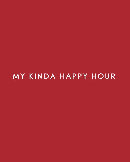 Shop My Kinda Happy Hours Full Sleeve T-Shirt (DL) Bold Red