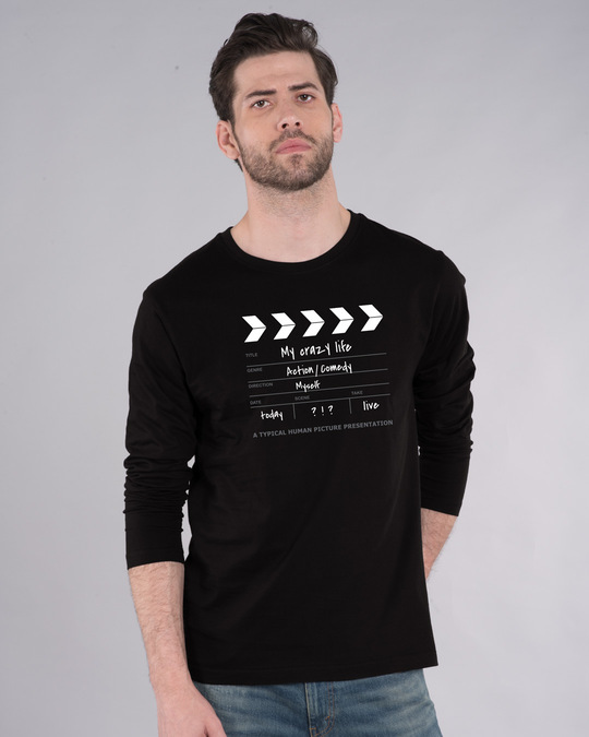 Shop My Life As A Movie Full Sleeve T-Shirt-Front