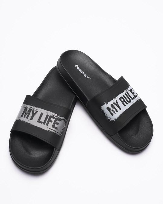 Shop My Life My Rule Sliders-Front