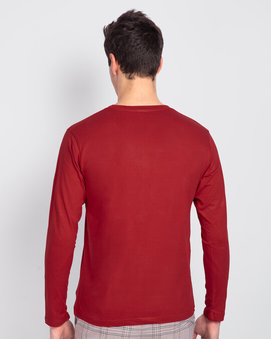 Shop My Mother Had Me Tested Full Sleeve T-Shirt Bold Red-Back