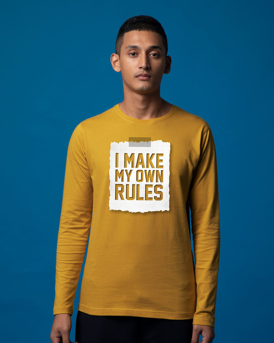 Shop My Own Rules Full Sleeve T-Shirt-Front