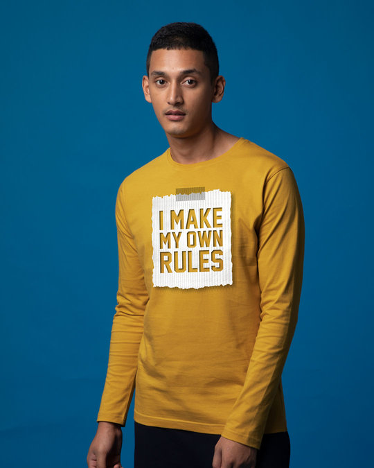 Shop My Own Rules Full Sleeve T-Shirt-Back