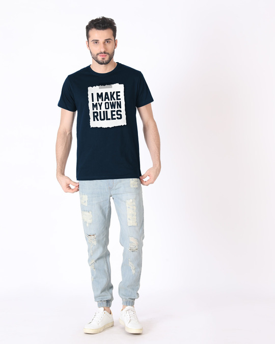Shop My Own Rules Half Sleeve T-Shirt