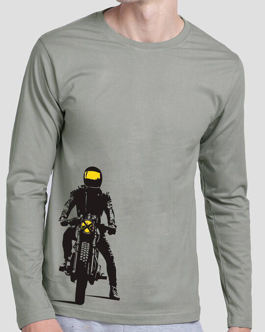 Shop My Ride Full Sleeve T-Shirt Meteor Grey-Front