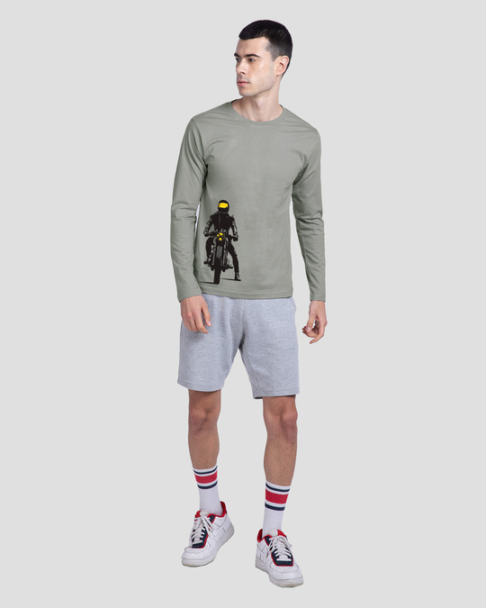 Shop My Ride Full Sleeve T-Shirt Meteor Grey-Full