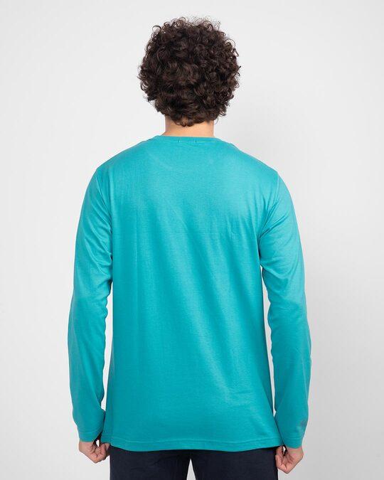 Shop My Ride Full Sleeve T-Shirt Tropical Blue-Design