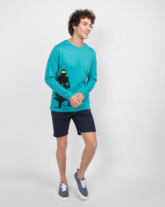Shop My Ride Full Sleeve T-Shirt Tropical Blue-Full