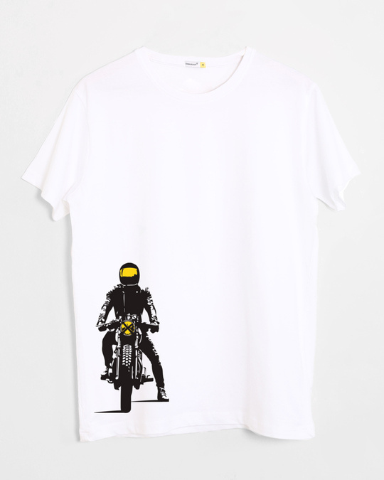 Shop My Ride Half Sleeve T-Shirt White-Front
