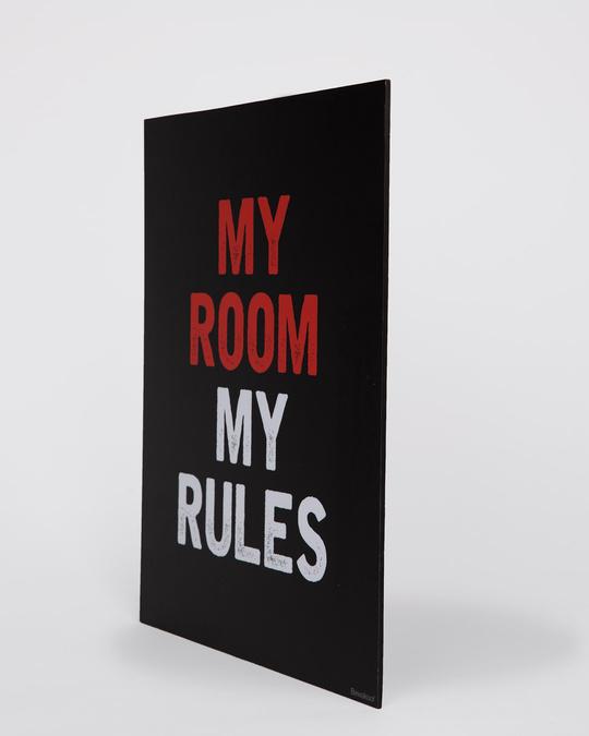 Shop My Room My Rules Designer Wall Frame-Back