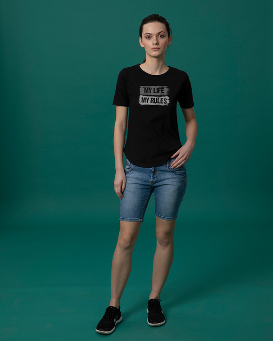 Shop My Rules Basic Round Hem T-Shirt