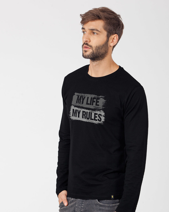 Shop My Rules Full Sleeve T-Shirt-Back