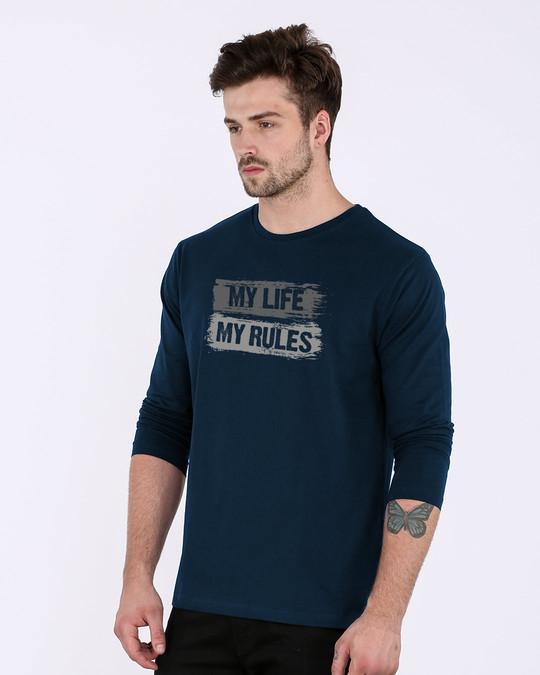 Shop My Rules Full Sleeve T-Shirt-Back