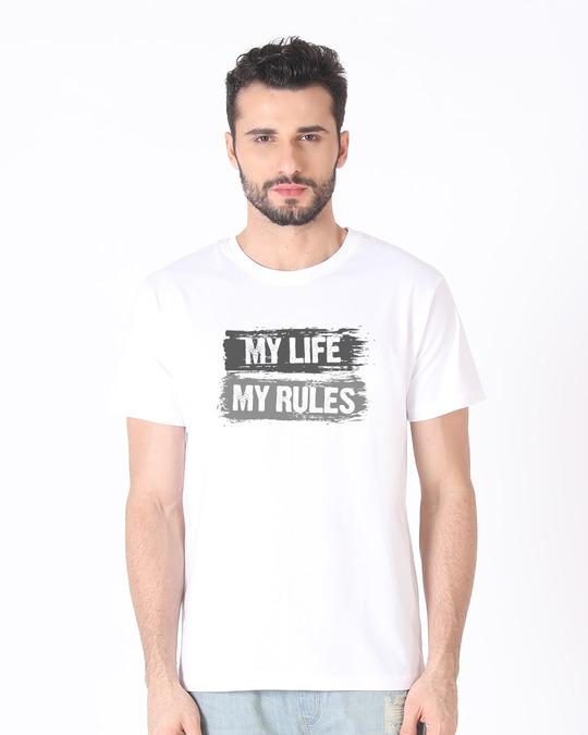 Shop My Rules Half Sleeve T-Shirt-Back