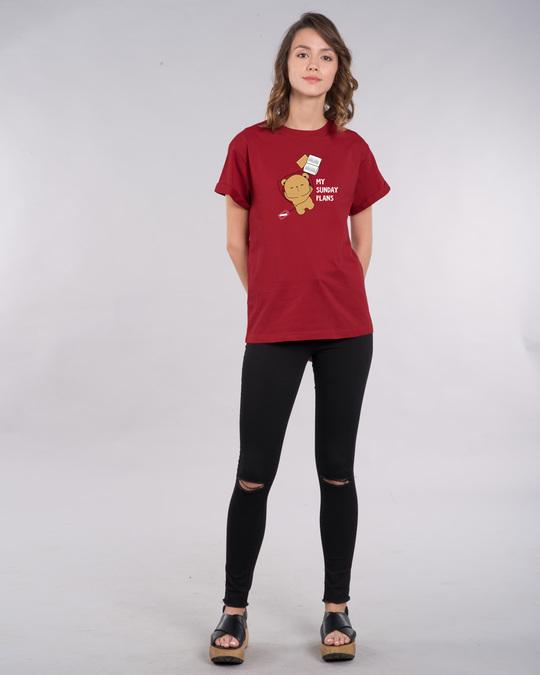 Shop My Sunday Plans-bear Boyfriend T-Shirt-Design