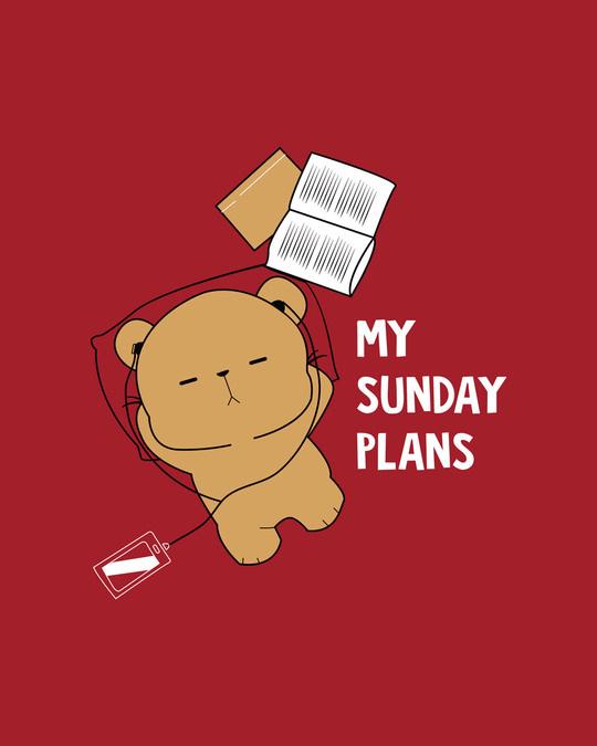 Shop My Sunday Plans-bear Half Sleeve T-Shirt-Full