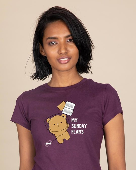 Shop My Sunday Plans-bear Half Sleeve T-Shirt-Front