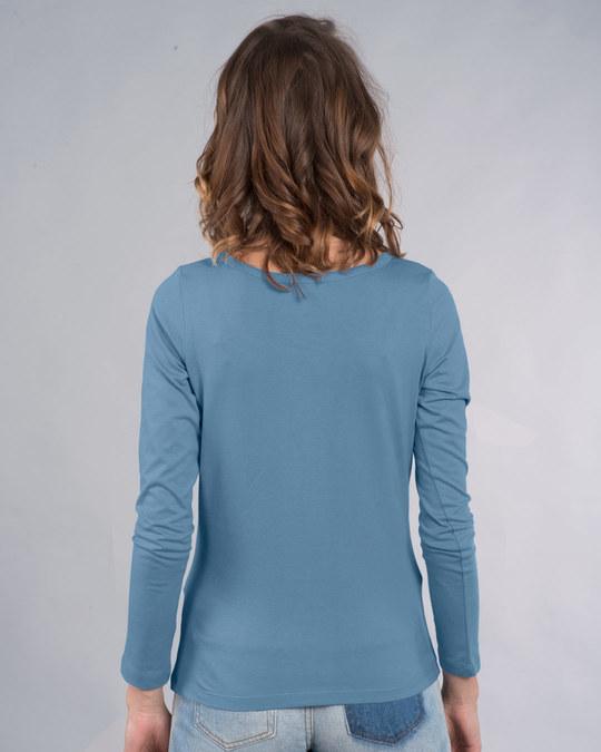 Shop My Sunday Plans-bear Scoop Neck Full Sleeve T-Shirt-Back