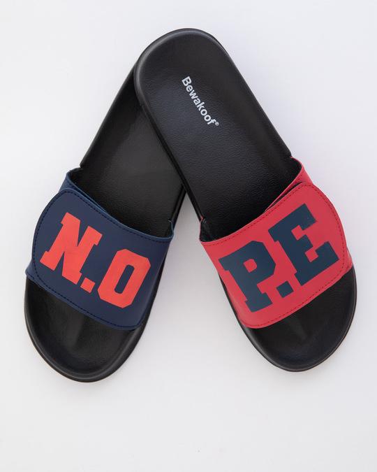 Shop N.O.P.E Lightweight Adjustable Strap Women Slider-Front