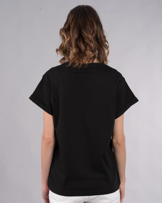 Shop Na Aastik Na Nastik Boyfriend T-Shirt-Back