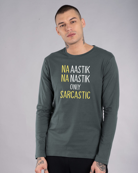 Shop Na Aastik Na Nastik Full Sleeve T-Shirt-Front