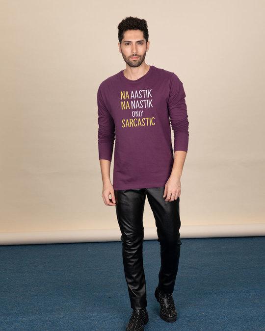 Shop Na Aastik Na Nastik Full Sleeve T-Shirt-Design