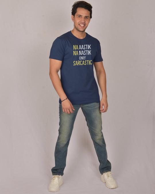 Shop Na Aastik Na Nastik Half Sleeve T-Shirt-Design