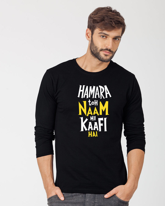 Shop Naam Hi Kaafi Hai Full Sleeve T-Shirt-Front
