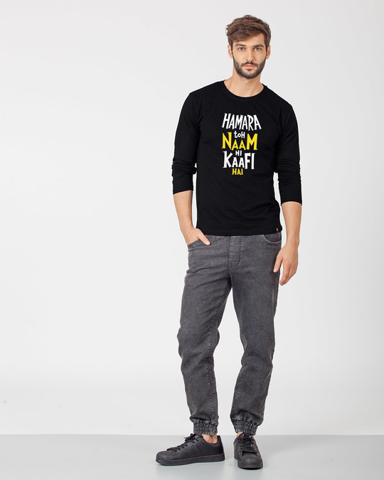 Shop Naam Hi Kaafi Hai Full Sleeve T-Shirt-Full